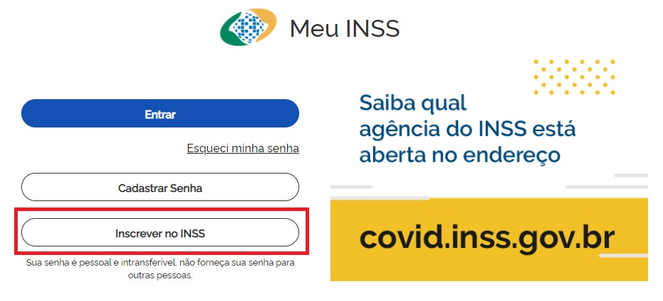 Inscrição no INSS